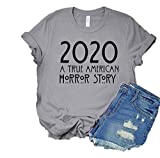 WWZY Men's/Hombre 2020 A True Am_erican Hor_ror St_ory Shirt/Camiseta Trending Tshirt/Camiseta Shirt/Camiseta Black Medium