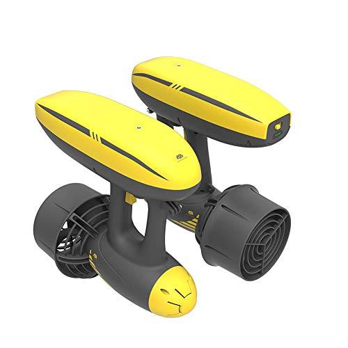 JINGBO Scooter Submarino, Hélice Sumergible Scooter Submarino Booster con Dos propulsores de liberación de 10kg de Empuje, 50m Profundidad de Trabajo para Buceo Natación Snorkeling en el Agua,B