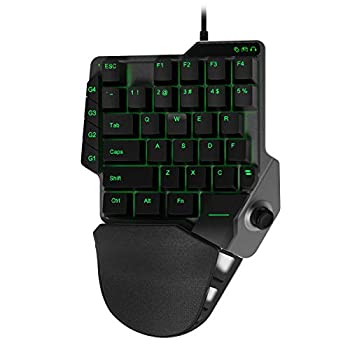 HYCARUS Mechanical One-Handed Programmable Macro Gaming Keyboard KeyPad with Built-in Mouse and Keyboard Adapter for PS4/ Xbox One/N-Switch/ PS3  HC-20385