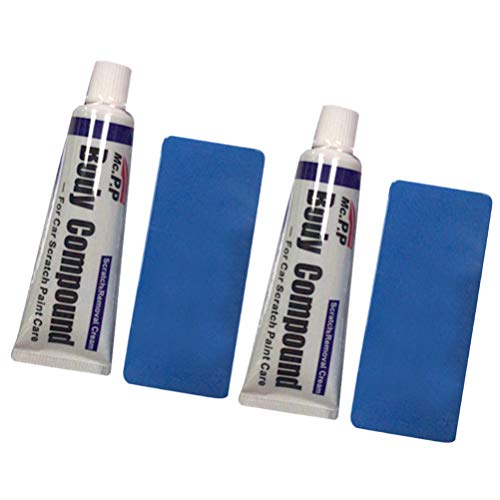 FAVOMOTO Car Scratch Repair Polishing Wax Kit with Sponge Body Compound Cream Wax Car Body Compound Scratch Remover Vehicle Paint Scratch Repair Auto Paint Scratch Remover Kit