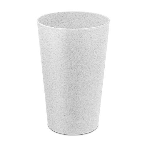 Koziol Zahnputzbecher Rio, Mundbecher, Spülbecher, Becher, Thermoplastischer Kunststoff, Organic Grey, 300 ml, 5828670