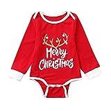 niño Navidad Ropa niñas Unisex Pijama Bebe Navidad Regalo Estampado de Navidad Manga Larga Vestido Estampado de Santa Claus Tops y Pantalones 2pc Padres e Hijos Niño