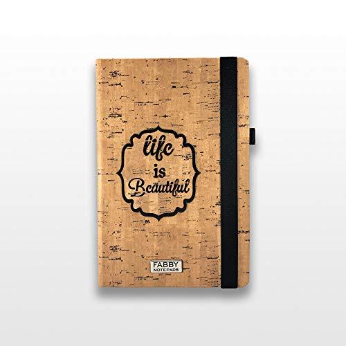 Bullet Journal Notizbuch, A5, Kork-Design, mit Laserdrucker, beeindruckender Textur, macht Ihr Notizbuch zu einem Objekt, mit Bullet Journal System