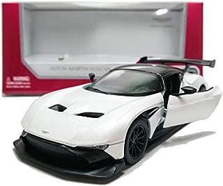 KiNSMART 1:38 Die-CastAston Martin VulcanCarMetal White Model with Box Collection Christmas New Gift