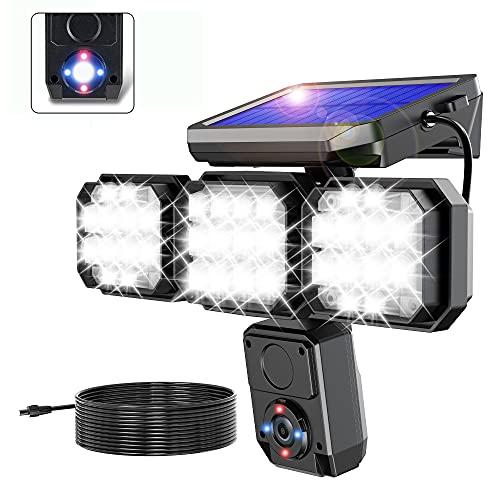 Solar Flood Lights Outdoor, 120LED 2200LM Super Bright Solar Motion Sensor Alarm Light Outdoor IP65...