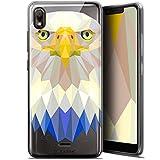 Ultra-Slim Polygon Animal Eagle Case for 5.93 Inch Wiko