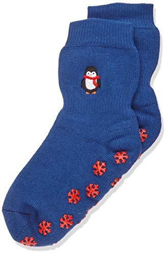 FALKE Kinder Stoppersocken Pinguin - Baumwoll-/Merinowollmischung, 1 Paar, Blau (Royal Blue 6051), Größe: 27-30