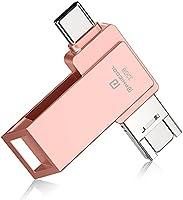 【2021 日本限定】4in1 usbメモリー フラッシュドライブ メモリ Android PC 人気 USB 両面挿し スマホ USB メモリー USBフラッシュドライブ Android パソコン対応 USBメモリ OTG Android...