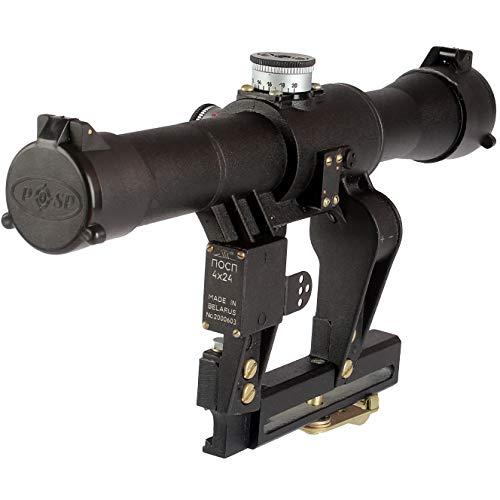 BelOMO POSP 4x24 VM (BM). Optical Rifle Scope. Russian Side Mount. 1000m Rangefinder. 1 MOA. Combloc
