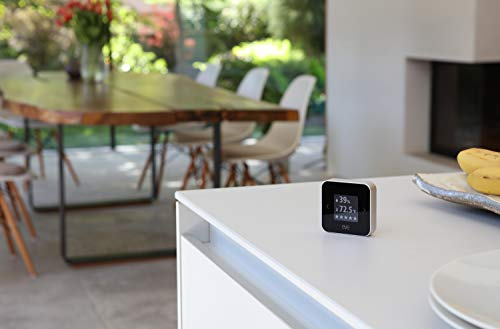 Eve Room - Indoor Air Quality Monitor for tracking VOC, temperature & humidity, display, no bridge necessary, Bluetooth Low Energy (Apple HomeKit)
