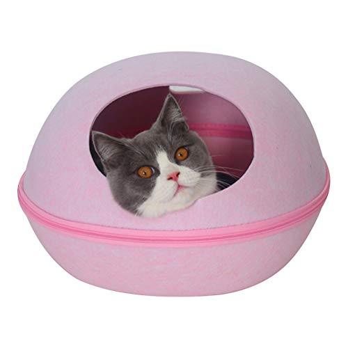 犬 RTT Cama Tipo Cueva para Gatos Casa para Gatos Ropa De Cama Semicerrada para Gatos Extraíble Y Lavable Four Seasons 1024(Size:M)