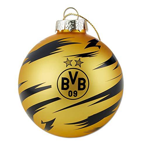 Borussia Dortmund Unisex– Erwachsene BVB-Christbaumkugel 2020 Dekoration, schwarz/Gelb, one Size