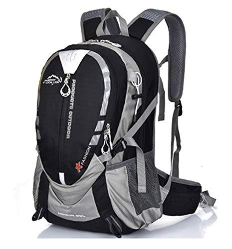 Outdoor Bag Trinkrucksack mit Wasserbeutel MTB Bike Sport Outdoor Camping Wandern Radfahren Rucksack Männer Frauen Travel, schwarz One size