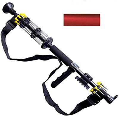 """24"""" .40 Caliber Tactical Blowgun with 10 Spear Darts, 8 Spike Darts, Sling, Tactical Mount, Pistol Grip and Peep Site (Red) from Venom Blowguns"""
