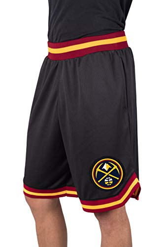 NBA Herren Mesh Basketball Shorts Woven Active Basic, Team Logo schwarz, Herren, GSM3547F, schwarz, Small
