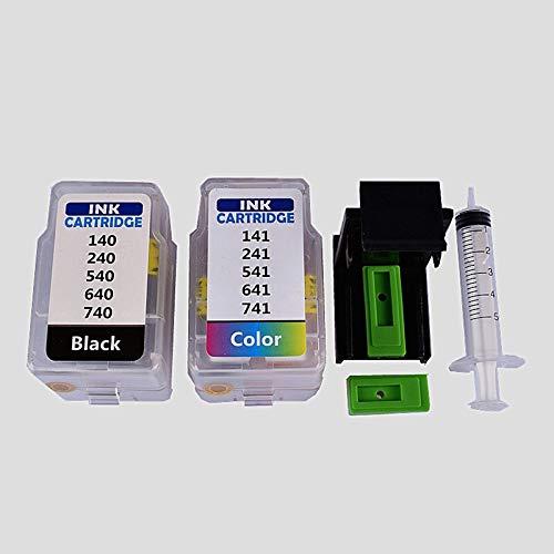 WIYP Inteligente Cartucho rifll Kit for Canon PG 540 CL 541 de Cartucho de Tinta for Canon PIXMA MG4250 MX375 MX395 MX435 MX455 MX515 MX525 (Color : Black and Color)