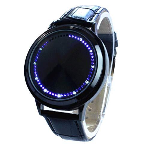 Neue Armbanduhr FGHYH Männer Einzigartige Persönlichkeit Digitale Armbanduhr Männer Sportuhr LED Uhren Herrenuhr Uhr(BK)