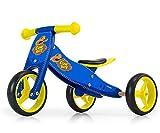 Milly Mally Jake Cowboy - Triciclo 2 en 1 de Madera, Color Azul
