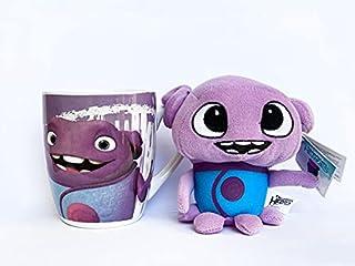 Set de regalo DreamWorks Heroes, Shrek, Kung Fu Panda, Madagascar, Home – Taza de 300 ml + peluche de peluche Little Dream...
