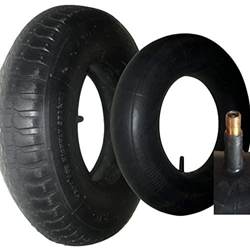 OKAO⭐ Neumáticos y cámara de aire 4.80/4.00-8 para carretilla, remolque, tractor, cortacésped, carretilla, carro, carga hasta 120 kg, válvula TR13 resistente