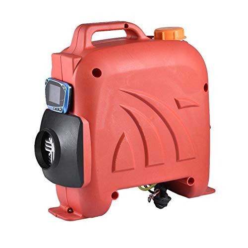 Air Diesel Heizung Air Standheizung 5KW 12V 24V Diesel-Luftheizung Parkplatz Kraftstoffheizung LCD Monitor Für RV, Boote, LKW, Wohnmobil Anhänger, Wohnmobile (Rot)