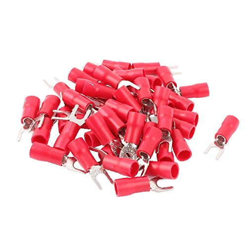 X-Dr 50 stücke Rot Isolierte Spaten Gabel Elektrische Drahtverbinder Terminals für AWG14-12 Draht (b91e16ee8f286f09d9c0089c78b21294)