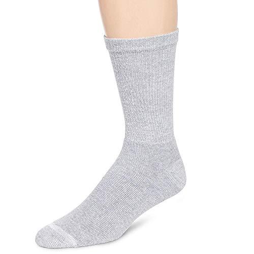 Hanes Crew socks ComfortBlend super soft cotton, Shoe Size 6-12, Pack of 6 Pairs