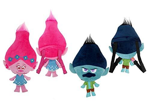 Twin Pack Trolls Backpack Boys & Girls Poppy Brunch