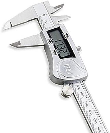 Color : Silver Yadianna HHO-Electronic Digital Caliper 150mm Waterproof IP54 Digital Caliper Minimeter Guage Stainless Steel Vernier Caliper Measuring T