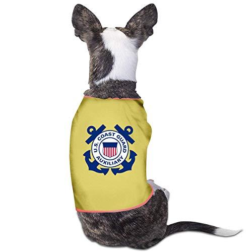 Florasun Coast Guard Mode Haustier Kleidung Hund Shirt für Katzen und kleine Hunde Katze Weste Kleidung Welpen Kostüme Gelb S