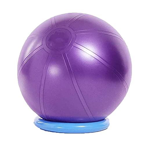 Rückblickend ist das Ufer Yoga Ball Große Verdickung Fitness Ball T-Klasse Explosionsgeschützte Schweizer Ball Schwangere Frauen Hebelwäsche Yoga Ball, Baby Trainingsball(Size:65cm,Color:lila)
