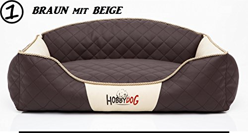 Hobbydog XXL ELIBBB1 Dog Bed Elite XXL 110X85 cm Brown-Beige, XXL, Multicolored, 4.5 kg