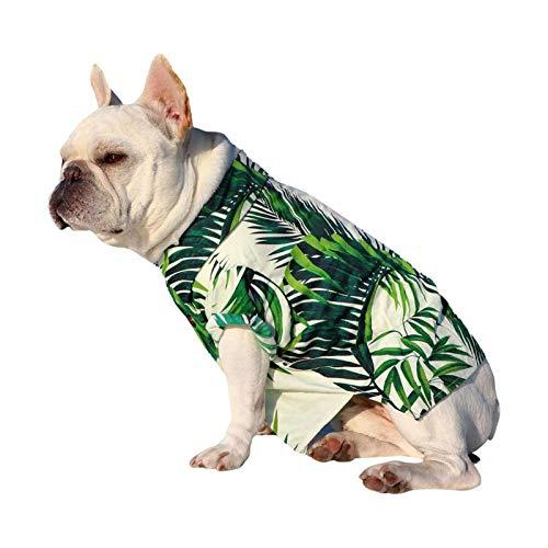Camicia Hawaiana Per Animali Domestici, T-shirt Estiva Per Cani Traspirante Alla Moda, Abbigliamento Per Animali Da Compagnia Stampato In Stile Resort