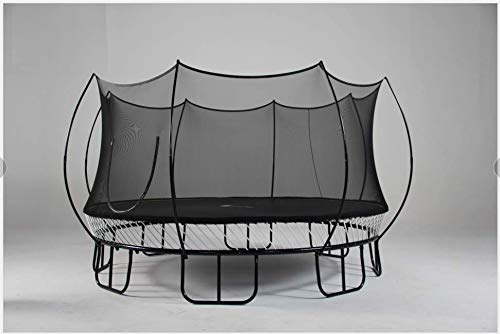 Free Jump 10ft Round Backyard Trampoline with Ladder for Adult and Children, Stable, Spring-less, Simple frame,Quick-fix design