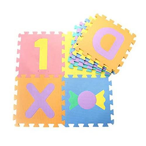 LOKIH Alfombrillas para Puzzles, Protección del Piso, Ejercicio, Sala De Juegos. 46pcs,D(46pcs)
