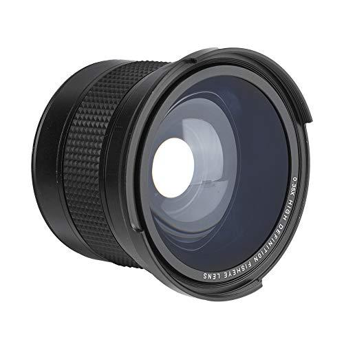 Obiettivo grandangolare Aheuto 58MM 0,35X Fisheye per fotocamera reflex digitale Grandangolo adatto per lentes canon rebel t5