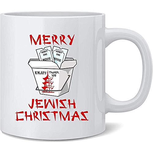 Frohe jüdische Weihnachtslustige keramische Kaffeetasse Kaffeetassen-Tee-Schalen-Spaß-Neuheits-Geschenk 11 Unze