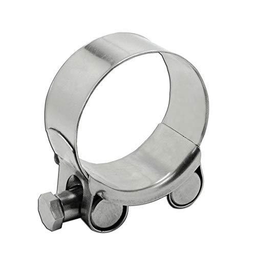 Irondo® Edelstahl Gelenkbolzen V4A W5 Schelle Schlauchschellen DIN3017 Spannbackenschellen Bandschelle, Spannbereich:60-63mm | 1 Stk.