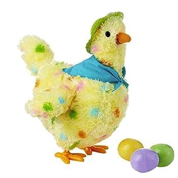 Dyllutrwhe Stuffed Animal Toys Children Musical Cartoon Chicken Hen Laying Eggs Toy Singing Swinging Gifts Doll Cartoon Toy 1