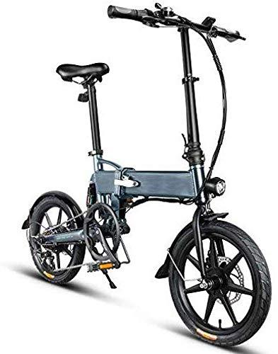 BOC Outdoor Sports Elektro-Faltrad, Falt-Elektrofahrrad, 250 W 7,8 Ah Falt-Elektrofahrrad Faltbares Elektrofahrrad, Falt-Elektrofahrrad Fahrrad Aluminiumlegierung 16 Zoll Tragbar 25 km/h, 3-Modus,