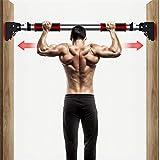 懸垂バー 鉄棒 懸垂棒 ドアジム けんすいバー 筋力トレーニング 自宅 筋トレ 滑り止め装置 穴あけ不要…、特許滑り止め装置 腹筋 背中トレーニング