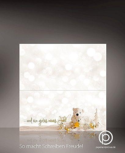 productos creativos Top Novedad 2016  Navidad Osos 100tarjetas de de de Navidad (para imprimir, cartón de 240g, DIN largo de formato  a la venta