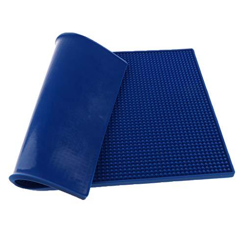 MERIGLARE Tapis De Silicone D'oreiller De Coussin Pour Des Outils De Manucure De Repos De Main D'art D'ongle, Tasse De Tatouage - Bleu foncé, 44 x 29,5 cm