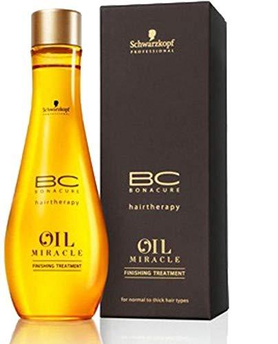 3 x Schwarzkopf Bonacure Haartherapie - Oil Miracle Finishing-Behandlung - für normales Haar - 100 ml