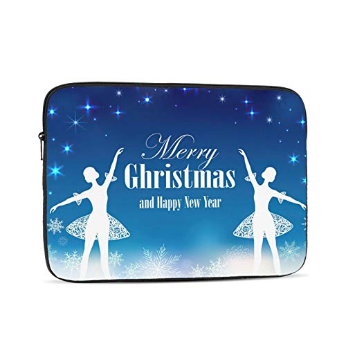 KXT Christmas New Year Laptop Sleeve Case,Briefcase Cover Protective Bag,Ultrabook Netbook Carrying Handbag for Women Men