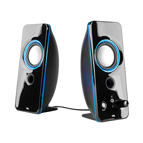 Cyber Acoustics 2.0 Color Changing Desktop Speaker System with Bluetooth Home Audio - 8 Pack - for Laptop, PC Computer, Tablet, and Smartphones (CA-SP29BT-8)