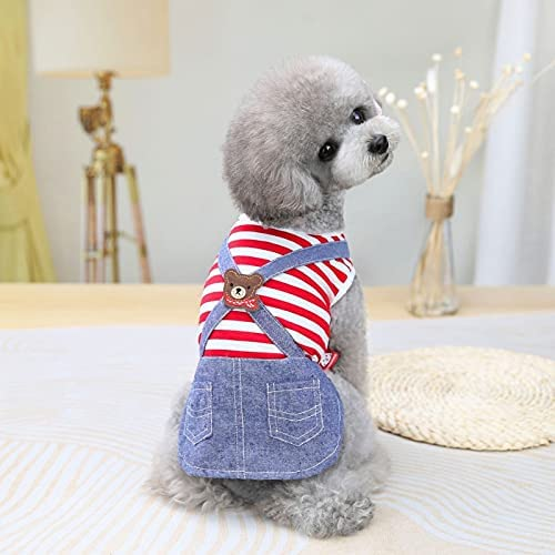 Challenge the lowest price Puppy Cute Striped Dog Thin Clothing Small Dress Poodle Pupp Houston Mall