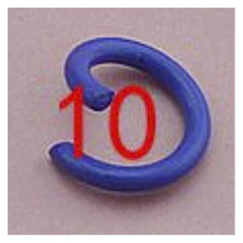 Herramienta de bricolaje 100 unids / lote 1.2x8mm Metal colorido DIY Hallazgos de joyería abiertos Single Loops Jump Anillos Split Ring para la fabricación de joyas para la fabricación de joyas de are