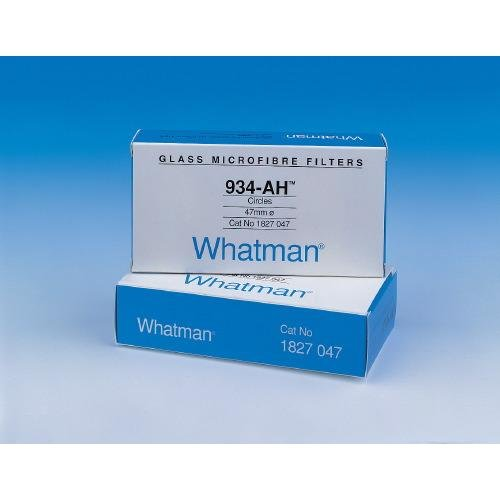 Whatman 1827-125 Glass Microfiber Binder Free Filter, 1.5 Micron, 3.7 s/100mL Flow Rate, Grade 934-AH, 12.5cm Diameter (Pack of 100)