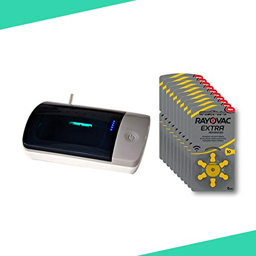 Audioactive- modelo 10A Caja 60 unidades pilas audífonos 10 A 60 unidades y caja eléctrica uv de audífonos o amplificadores